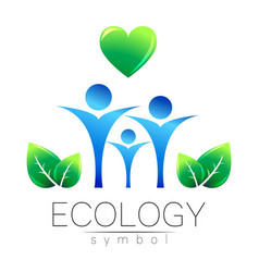 Ecology symbol sign with vector