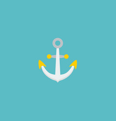 flat icon anchor element of vector image vector image