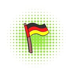 Germany flag icon comics style vector image vector image