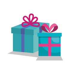 Giftbox presents set icons vector
