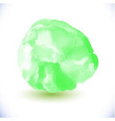 Green watercolor circle vector