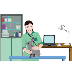 Healthcare veterinary clinic template vector