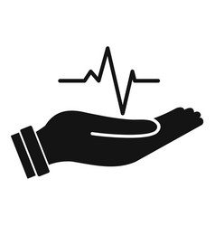Heartbeat icon simple style vector