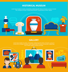 historical museum and gallery banners vector image vector image