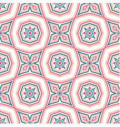 Intricate floral pattern tile background vector