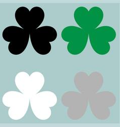 Leaf clover trefoil icon vector