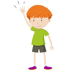 Little boy with his hand up vector