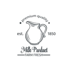 Logo milk product vector