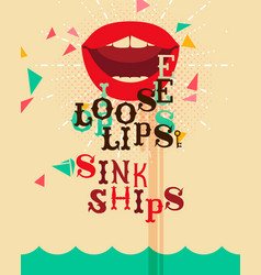 loose lips vector image