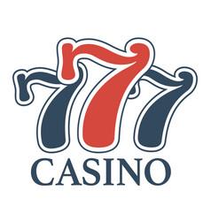 luxury casino 777 isolated minimalistic vector image vector image