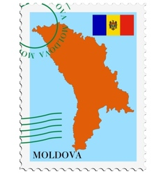 mail to-from Moldova vector image vector image