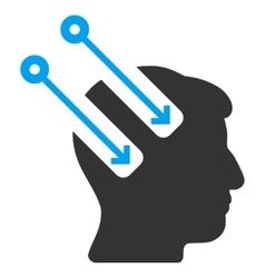 Neural interface flat icon vector