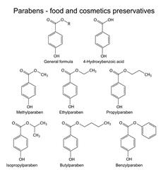 Parabens molecules vector image vector image