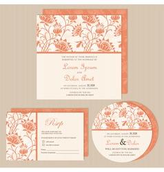 Set of wedding invitations vector