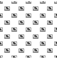 Speech bubbles on screen pattern simple style vector image