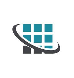 Square pixel swoosh logo icon vector