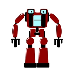 Strong futuristic toy robot vector