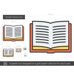 Student book line icon vector