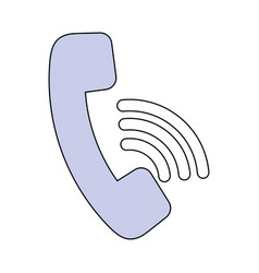 Telephone call center symbol vector