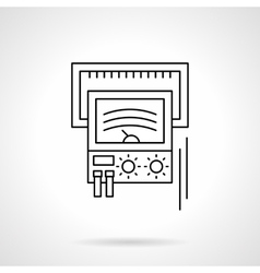 Voltage check device flat line icon vector