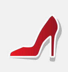 Woman shoe sign new year reddish icon vector