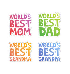World best relatives cut-out vector