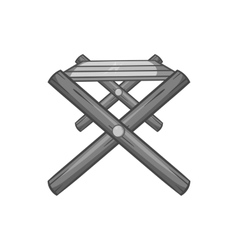 Folding table icon black monochrome style vector