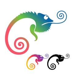 Chameleon vector image