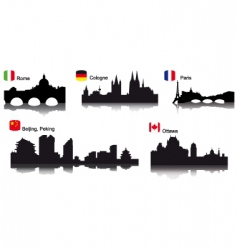 detaileworld cities vector image