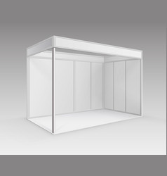 indoor trade exhibition standard stand vector image
