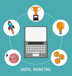 digital marketing finance business trade vector image