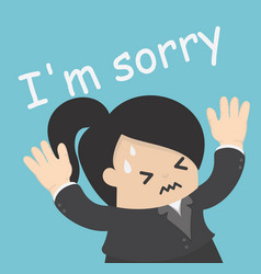 sorry vector image