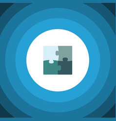 isolated puzzle flat icon jigsaw element vector image