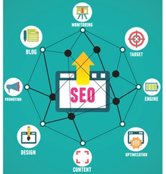 Abstract concept of seo process vector