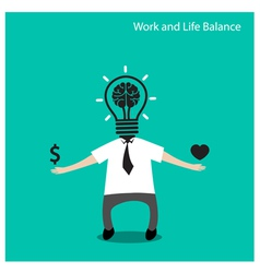 Work and life balance conceptbusinessman icon vector