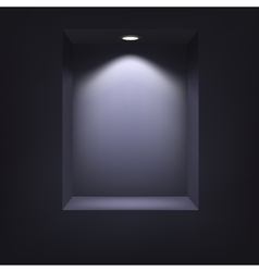 Dark niche for presentations vector