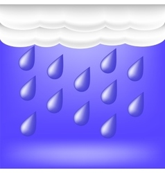 Rainy weather raindrops falling vector