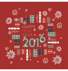 Happy new year 2016 greeting card design element vector
