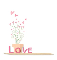 Love flowers design on white background vector