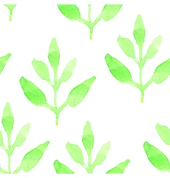 Retro seamless pattern with green plants seamless vector