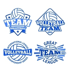 Set of volleyball badges logo templates vector