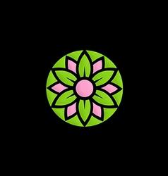 Abstract flower decorative logo vector
