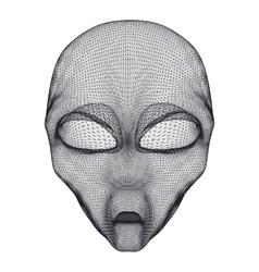 Alien head mesh vector image