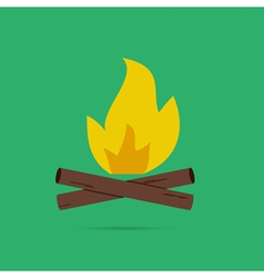 Bonfire colored logo labels and badges Travel vector image
