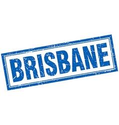 Brisbane blue square grunge stamp on white vector