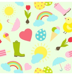 Colorful fresh spring seamless background pattern vector