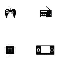 Electronics icon set vector