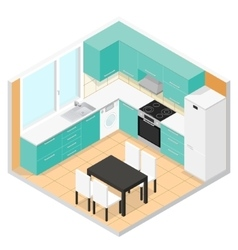Kitchen Isometric vector image
