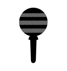 maraca instrument isolated icon vector image