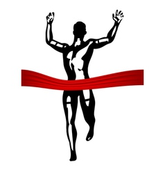 marathon finish line vector image